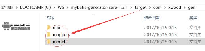 通过mybatis-generator-core工具自动关联表生成对应model、mappers及dao